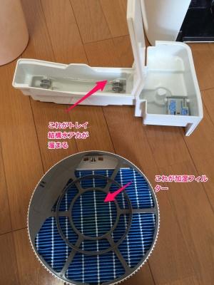加湿器フィルター清掃