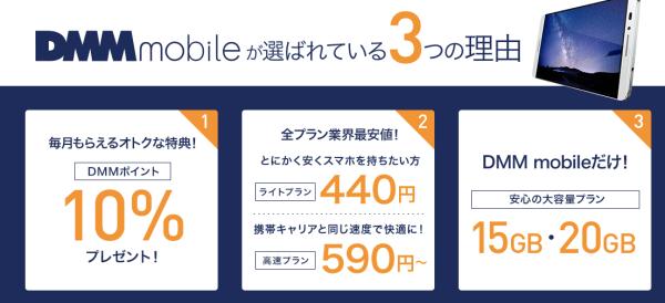 10GB DMMモバイル