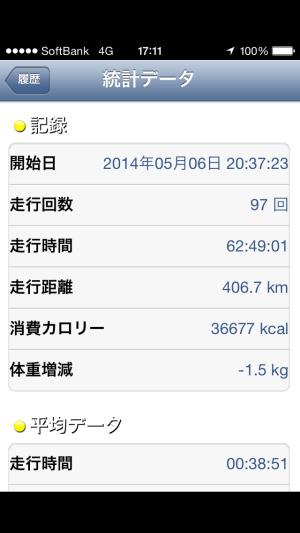 ジョギングアプリ画像2