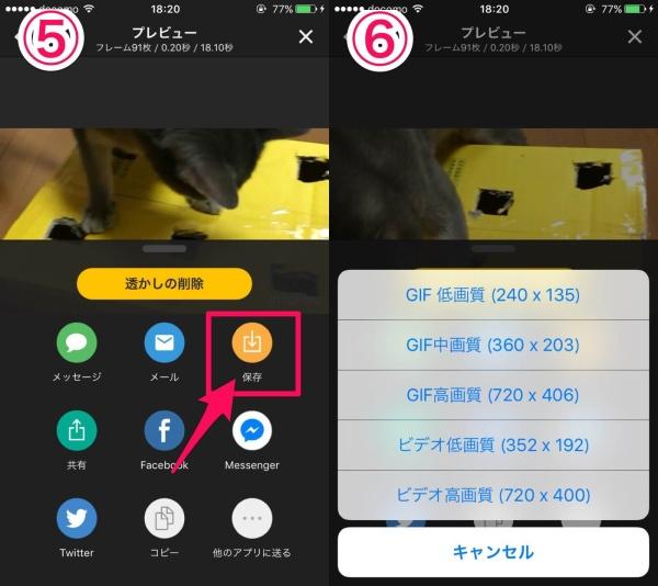 動画をgifにするアプリ詳細
