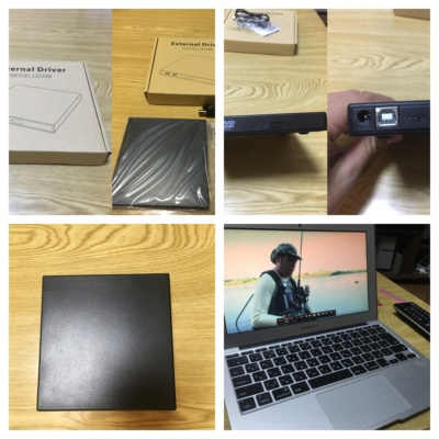Qtuo外付けポータブルCD/DVDドライブ