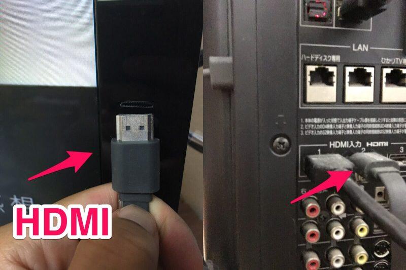 本体HDMIケーブル