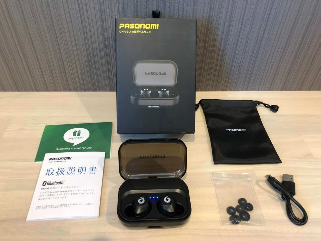 pasonomi TWS-X9 Bluetooth5.0対応のワイヤレスイヤホン